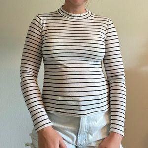 Lulu's Striped Mock-neck shirt